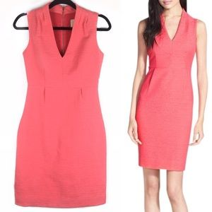 🎉HP Kate Spade Gwendolyn VNeck Coral Sheath Dress